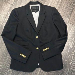 Sz 6 JCrew schoolboy blazer - black